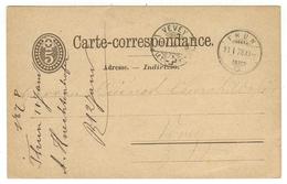 Suisse // Schweiz // Switzerland //  Entier Postaux //  Entier Au Départ De Thun Le 11.01.1878 - Interi Postali