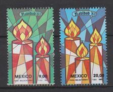 Mexico Mi 1875-1876 Christmas - Candles 1983 * * - Mexico