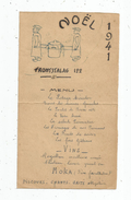 Menu , FRONTSTALAG 122 , 1941 , Camp De Transit NAZI De Royalieu, Compiégne , Frais Fr : 1.55&eu - Menus