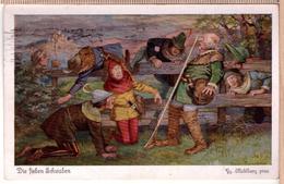CPA Illustrateur Georg Mühlberg: Die Sieben Schwaben, 3 - Andere Zeichner
