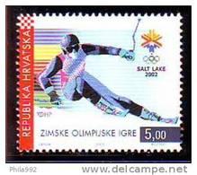 Croatia 2002 Y Sport Olympic Games Skiing Mi No 603 MNH