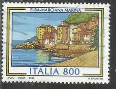 ITALY REPUBLIC ITALIA REPUBBLICA 1998 PROPAGANDA TURISTICA TOURISM MARCIANA MARINA ISOLA D'ELBA LIRE800 USATO USED OBLIT