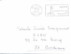 24 BELVES DORDOGNE OM SECAP FD 1-12-1970 .../ BELVÉDÈRE MÉDIÉVAL DU / PÉRIGORD NOIR + Verso SECAP PERIGUEUX