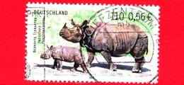GERMANIA - Usato - Rep. Federale - 2001 - Animali In Via Di Estinzione - Rinoceronti - 110 P - 0.56 €