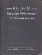KEDEM Taschen-Worterbuch Deutsch-Hebraisch (German-Hebrew Pocket Dictionary) - Books, Magazines, Comics