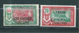 France Colonie Inde, Timbre De 1927  N°79 Et 80  Neuf * Et Oblitéré - India (1892-1954)
