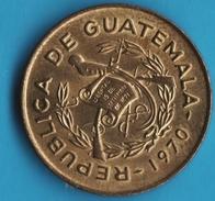 GUATEMALA 1 CENTAVO 1970 FRAY BARTOLOME DE LAS CASAS - Guatemala