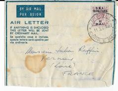 TRIPOLITAINE OCCUPATION ANGLAISE - 1949 - DEVANT DE LETTRE AIR LETTER De TRIPOLI => FRANCE - Tripolitaine