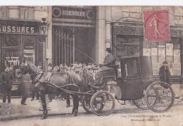 Carte 1907 LES FEMMES COCHERES A PARIS / MADAME CHARNIER (attelage,métier) - Straßenhandel Und Kleingewerbe