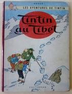 """Tintin Au Tibet EO 1960 (B29-Imp.Danel- Berets Dupond """"redoutable""""dos Rouge Foncé) - Tintin"""