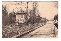 10 Saint St Julien Pont Sur La Seine Avenue De La Gare Cachet 1911 - Autres Communes