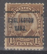 USA Precancel Vorausentwertung Preos Locals Kansas, Burlingame 684-713, Perf. Not Perfect