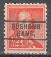 USA Precancel Vorausentwertung Preos Locals Kansas, Bushong 729