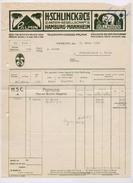 RECHNUNG Schlinck Palmin & Palmona HAMBURG COPPENBRÜGGE Jahrgang 1914 Firmenpost - Deutschland