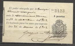 Q647-SELLO FISCAL COLEGIO ABOGADOS VALENCIA 5 PESETAS,SPAIN REVENUE,FISCALES.TIMBRES,FILATELIA FISCAL,TIMBROLOGIA,SELLO - Steuermarken