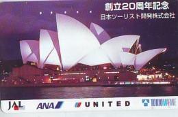 Télécarte  JAPON * ANA  (2167) Phonecard JAPAN  Airplane * Flugzeug Avion * AVION * AIRLINES * - Avions