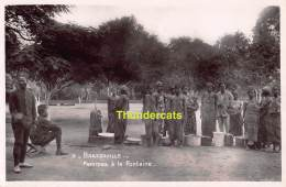 CARTE DE PHOTO EDITION E BESSIERES LEOPOLDVILLE BRAZZAVILLE FEMMES A LA FONTAINE - Brazzaville