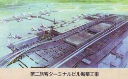 Télécarte  JAPON * 110-109867 (2184) Phonecard JAPAN * AIRPORT  * Airplane * Flugzeug Avion * AVION * AIRLINES * - Airplanes