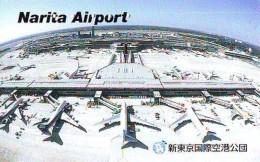 Télécarte  JAPON *  (2185) Phonecard JAPAN * AIRPORT  * Airplane * Flugzeug Avion * AVION * AIRLINES * - Avions