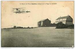 80 - 260117 - LE CROTOY - Le Biplan Des Frères CAUDRON évoluant Sur La Plage - Aviation - Le Crotoy
