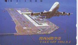 Télécarte  JAPON *  (2209) Phonecard JAPAN *   * Airplane * Flugzeug Avion * AVION * AIRLINES * - Flugzeuge