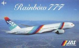 Télécarte  JAPON *  (2210) Phonecard JAPAN *   * Airplane * Flugzeug Avion * AVION * AIRLINES * - Flugzeuge
