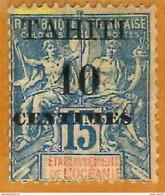 Tahiti 1903 P 33 Type I (avec Une Coupure) Avec Charnière              La Photo Est Celle Du Produit Fourni. - Tahiti