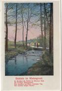 """Bächlein Im Wiesengrund"" By Julius Rodenberg (Max Filke), Poem Illustration Old Vintage Postcard Unused B170425 - Writers"