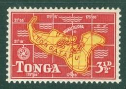 Tonga: 1953   Pictorial  SG105   3½d   MH - Tonga (...-1970)