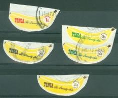 Tonga: 1969  Bananas - Coil Stamps    Used - Tonga (...-1970)