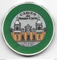 Ancien Jeton De Casino Société Des Bains De Mer De Monte Carlo - Monaco - Casino