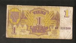 Pa. Latvia Lettland 1 Latvijas Rublis Latvian Ruble Rouble 1992 Ser. KC 338360 Banknote Repshe - Latvia
