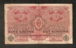 Pa. Austria Hungary 1 Krone 1916 No. 411008 / 1460 Osterreichisch Ungarische Bank Osterreich Magyar Banknote - Austria