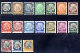 Effigie Del Maresciallo Hindenburg Fil. F4 - Serie Cpl. Centratura Lusso (unificato N.483/498) Nuovi MNH** - Neufs