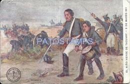 71362 ARGENTINA ART PATRIOTIC PROCER EL GENERAL BELGRANO Y EL NIÑO HEROE DE TACUARY POSTAL POSTCARD - Argentina