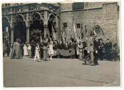 Photo 24 X 17,5 Cm, 31 Juillet 1938, Mechelen, Visite Du Roi Léopold III Et Ses Enfants Jubelfeesten O.L.V. Van Hanswijk - Persone Identificate