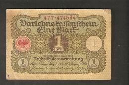 Pa. Germany Weimar Republic Darlehenskassenschein 1 MARK 1920 - # 477 . 474534 - [ 3] 1918-1933 : Weimar Republic