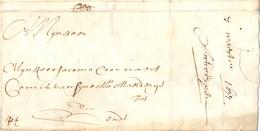 Complete Brief Antwerpen - Gent 7 Maart 1677 - 1621-1713 (Pays-Bas Espagnols)