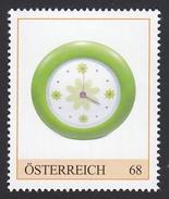ÖSTERREICH 2015 ** Wanduhr Mit Blumendekor 1970er Jahre - PM Personalized Stamp MNH - Uhrmacherei