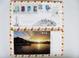 Cover From Spain 7 Post Stamps Ibiza - 1931-Hoy: 2ª República - ... Juan Carlos I