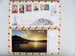 Cover From Spain 6 Post Stamps Ibiza - 1931-Hoy: 2ª República - ... Juan Carlos I