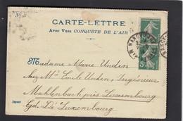 """CARTE-LETTRE AVEC VUES """"CONQUETE DE L'AIR"""",1914. - Francia"""
