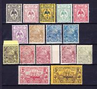 NOUVELLE CALEDONIE 1905-07 YT N° 88, 89, 90, 91, 92, 93, 94, 95, 97, 98, 99, 99a, 101, 103 Et 104 **, * Et Obl. - Nieuw-Caledonië