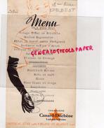 51- LUDES PRES REIMS- MENU 4 JUIN 1956- CHAMPAGNE CANARD DUCHENE - IMPERIAL STAR 1947- GANT GANTERIE - Menus