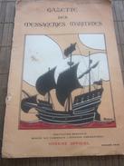 1936 Gazette Des Messageries Maritimes Uniquement La Couverture-Horaire Officiel,marche Paquebots Journal-Pubs Réclames - Books, Magazines, Comics