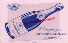 51 - EPERNAY - BUVARD CHAMPAGNE DE CASTELNAU - - Food