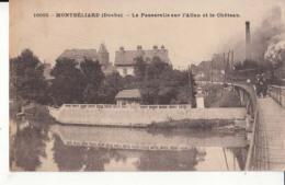 Dep 25 - Montbéliard - La Passerelle Sur L'Alian Et Le Château  - Achat Immédiat - Montbéliard