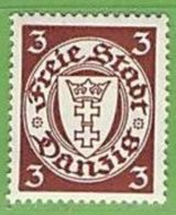 MiNr. 289 X (Falz)  Deutschland Freie Stadt Danzig - Dantzig