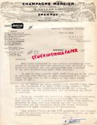 51 -  EPERNAY - LETTRE  CHAMPAGNE MERCIER - 1947 - 1900 – 1949