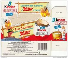 ASTERIX. PUB KINDER SURPRISE. Emballage Cartonné Illustré Avec Personnages De La Série. 1991. GOSCINNY-UDERZO - Advertisement